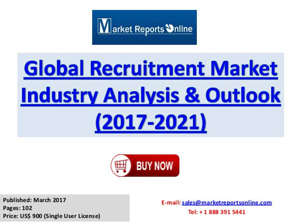 World Recruitment Market Forecast 2017-2021 March 2017