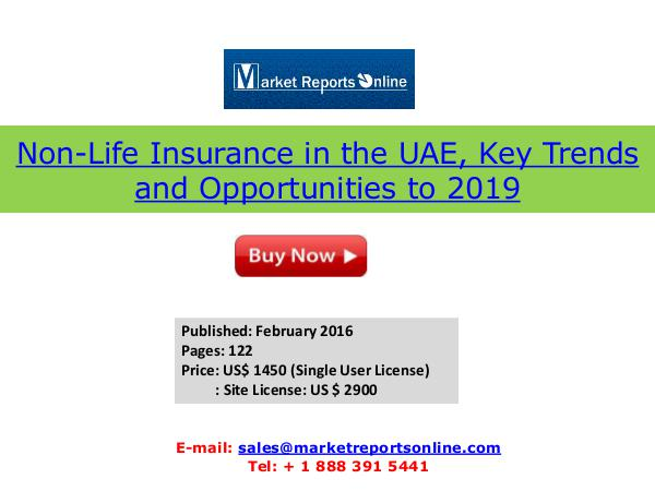 UAE Non-Life Insurance Market 2019 Forecasts Feb 2016