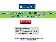 UAE Non-Life Insurance Market 2019 Forecasts