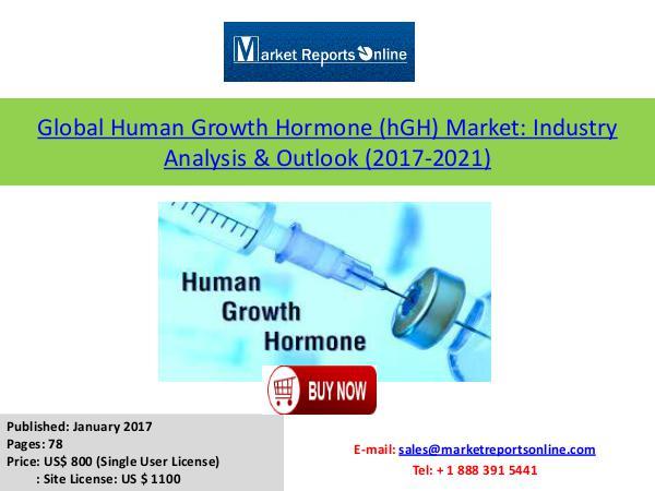 Human Growth Hormone Market 2021 Forecasts Analysis January 2017