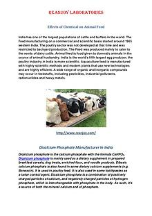 Effects of Chemical on Animal Feed
