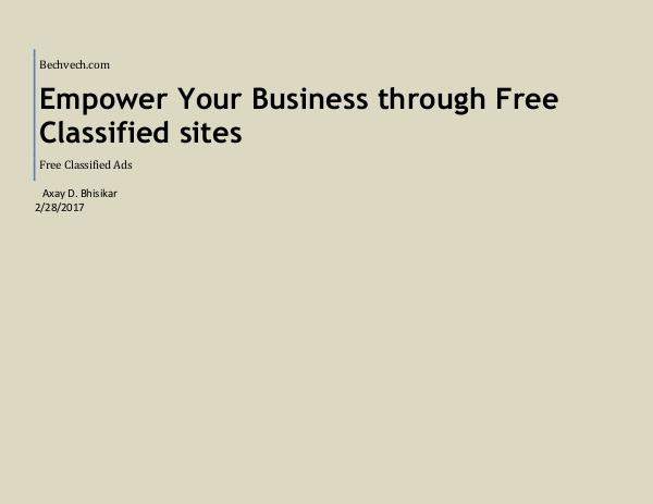 The Power of Small Business Classifieds in India Empower Your Business through Free Classified site