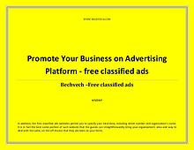 Promote Your Business on Advertising Platform - free classified ads