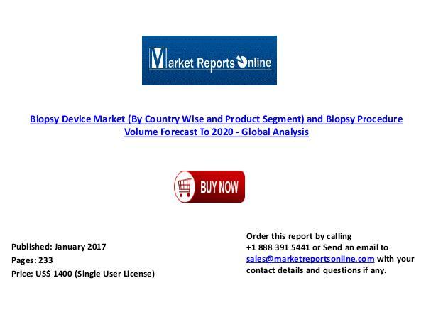 Global Biopsy Device Market Forecast & Analysis 2020 Jan 2017