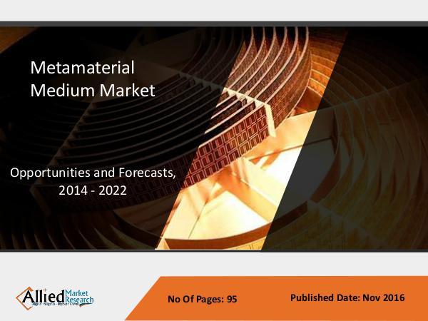 Metamaterial Medium Market to reach $1,387 million by 2022 Metamaterial Medium Market - Industry Overview