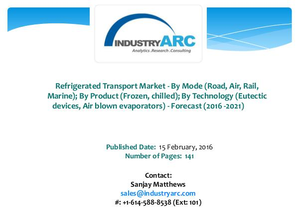 Refrigerated Transport Market Boosted by Yamato Holdings' Plans to St Refrigerated Transport Market