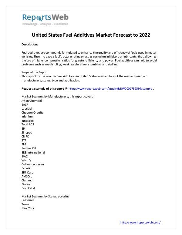 Market Analysis Fuel Additives Market Sales, Growth & Price Study