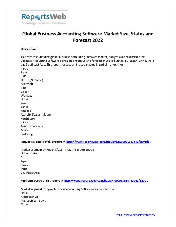 Market Analysis Business Accounting Software Market 2017
