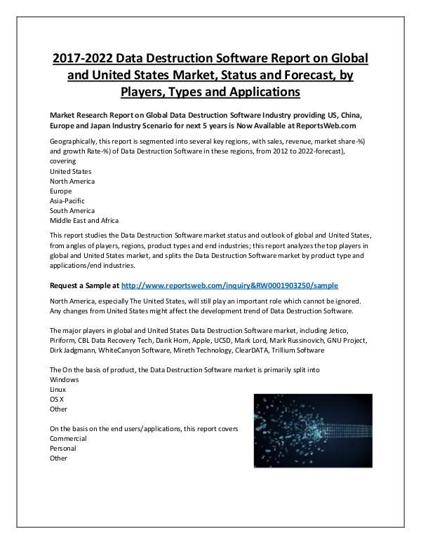 Market Analysis Trends in Data Destruction Software Market