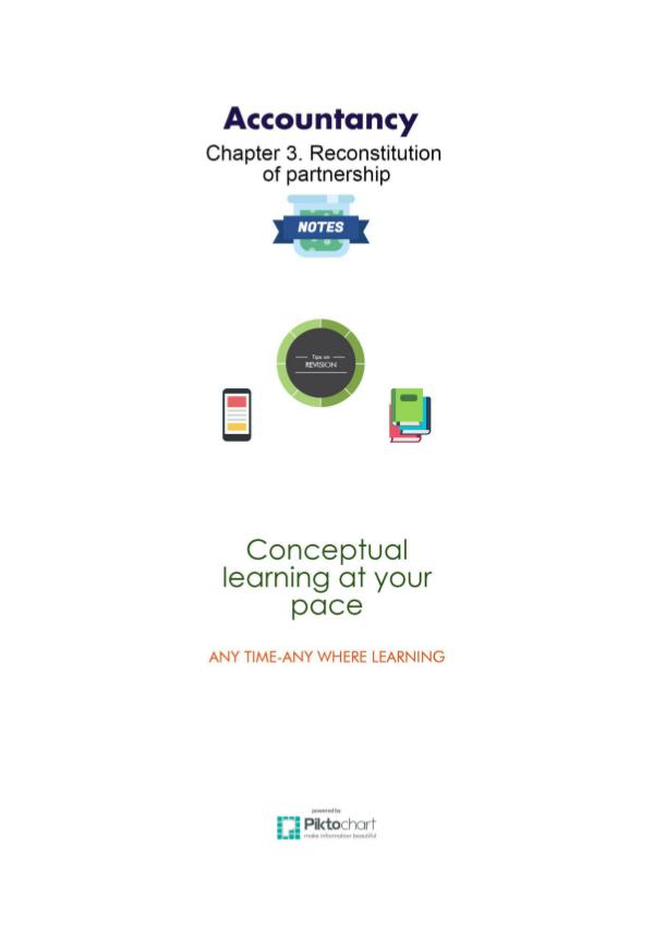 Chapter 3 & 4 Reconstitution of partnership