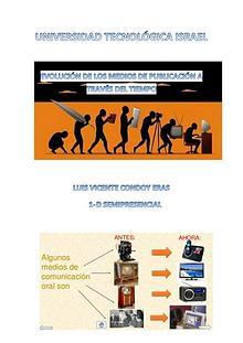 EVOLUCIÓN DE LOS MEDIOS DE COMUNICACIÓN