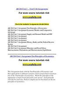 AB 204 Endless Education /uophelp.com