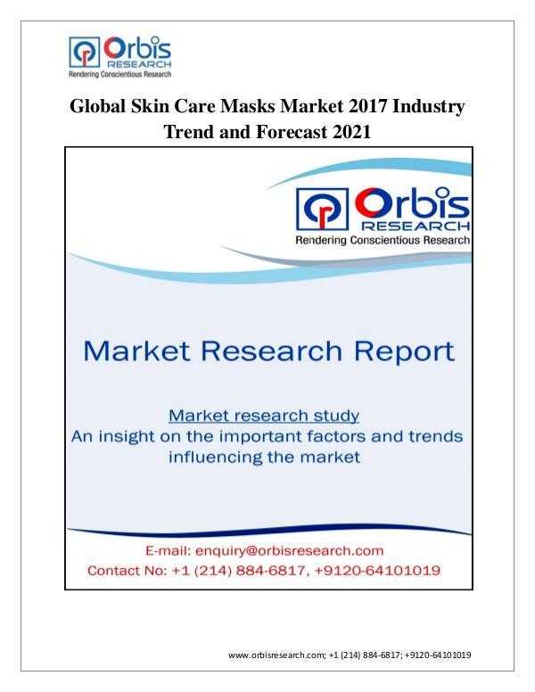 Global Skin Care Masks Market Global Skin Care Masks Market