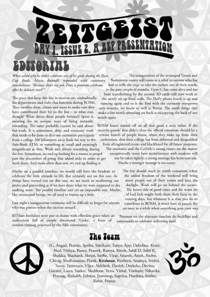 Zeitgeist Day 1, Issue 2