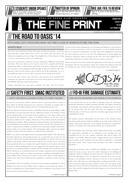 The Fine Print Issue Four, October 2014