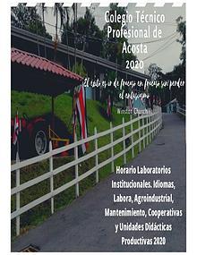 Horarios Generales CTP de Acosta