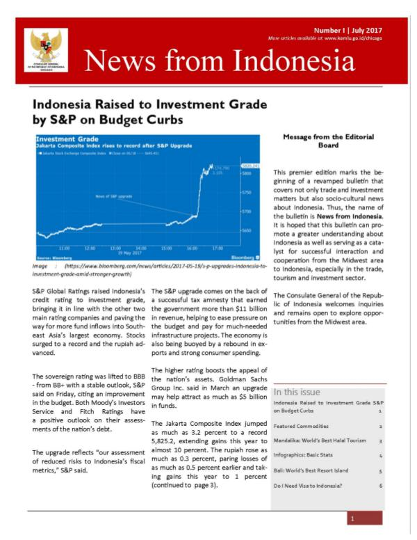 News from Indonesia July 2017