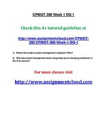 uop cpmgt 300 entire course