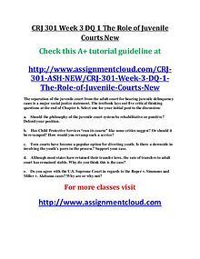 ASH CRJ 301 Entire Course New