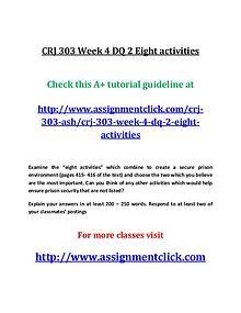 ASH CRJ 303 Entire course