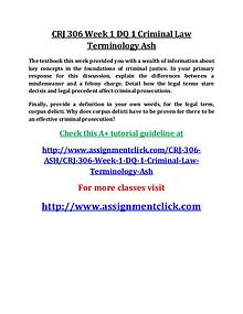 ASH CRJ 306 Entire Course