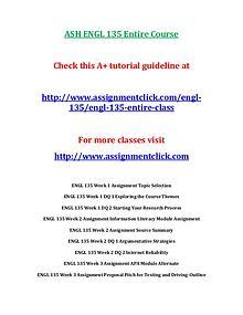 ASH ENGL 135 Entire Course