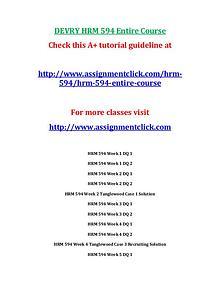 Devry HRM 594 Entire Course