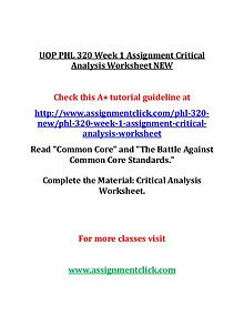 UOP PHL 320 Entire Course NEW