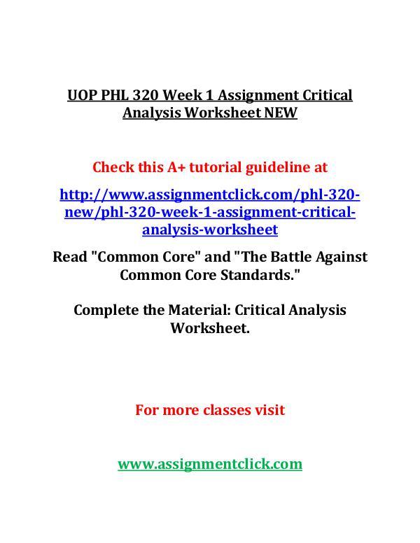 UOP GEN 201 Week 1 Individual Preparing for Academ