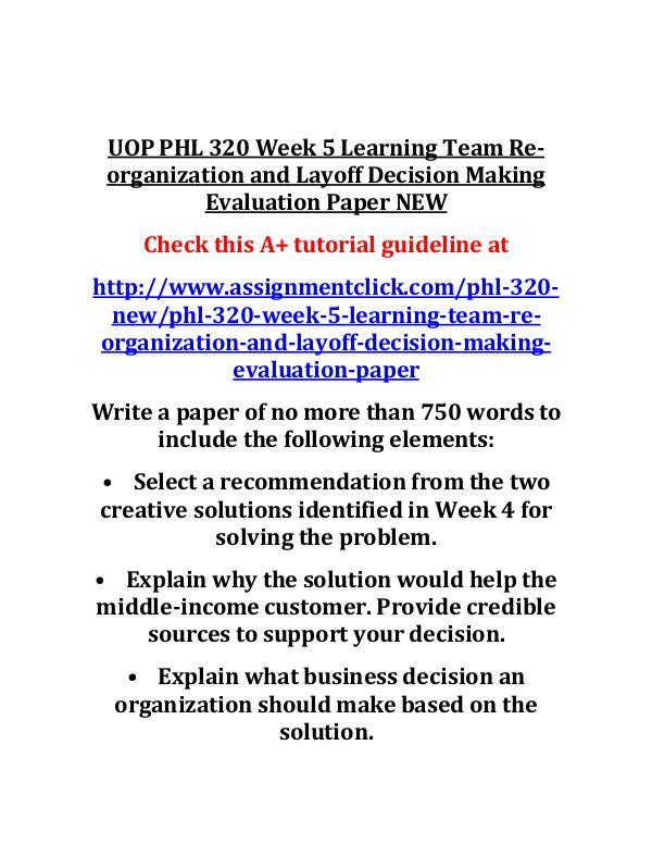 UOP GEN 201 Week 5 Individual Continuing Academic