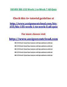 Devry BIS 155 entire course