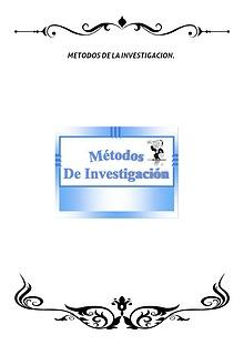 MÉTODOS DE LA INVESTIGACIÓN.
