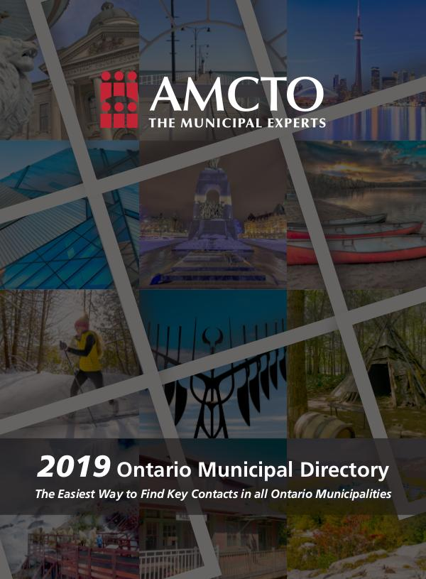 Sample - 2019 Ontario Municipal Directory Ontario Municipal Directory 2019_SAMPLE