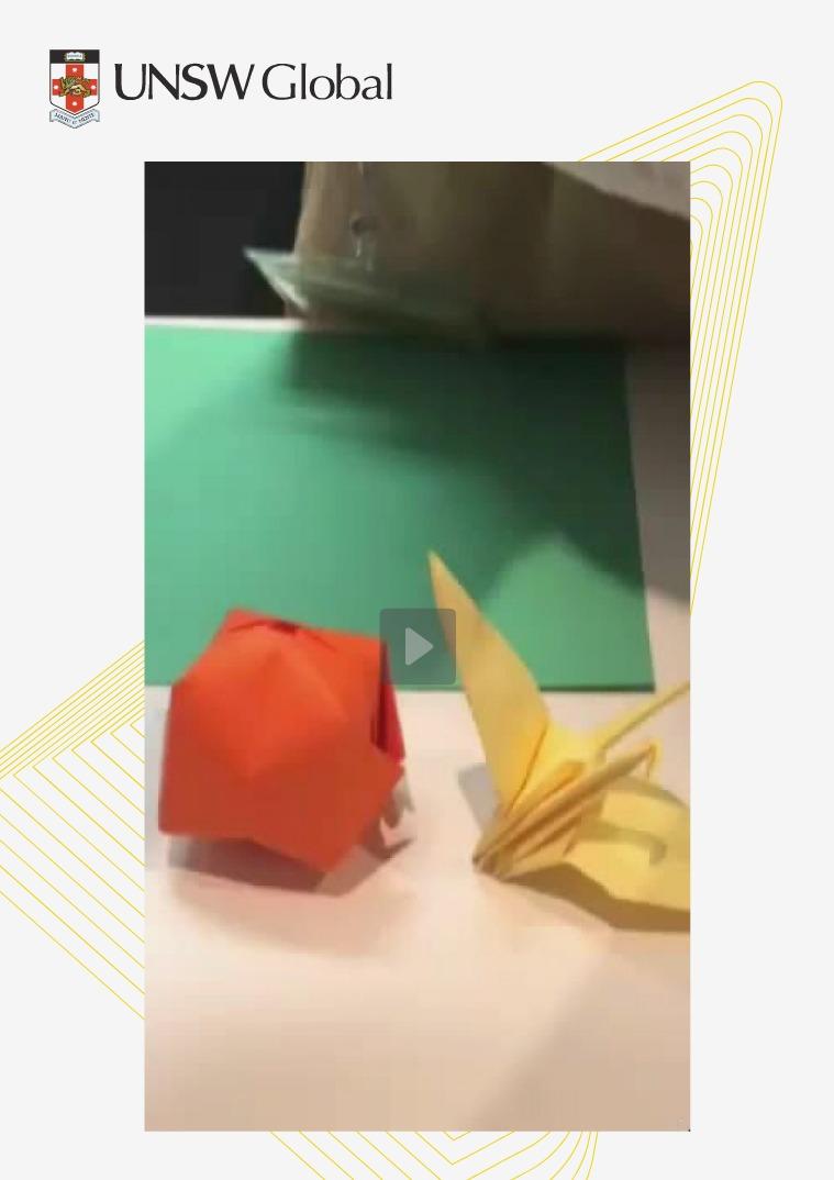 UNSW Global G'day - Origami Balloon Video Origami Balloon