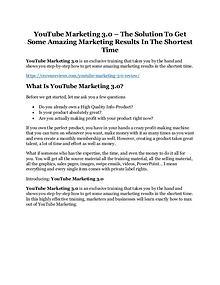 Youtube Marketing 3.0 review-(MEGA) $23,500 bonus of Youtube Marketing 3.0