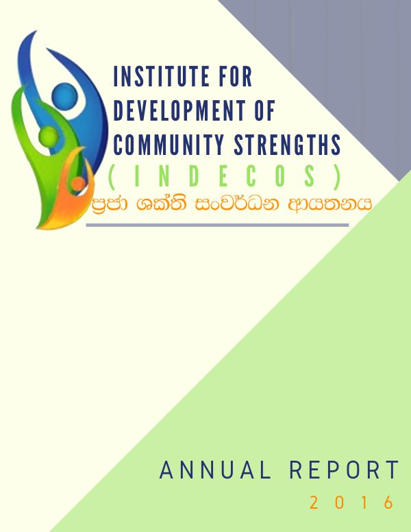 Institute for Development of Community Strengths Annual Report 2016