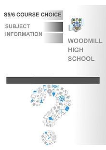 Senior course choice form