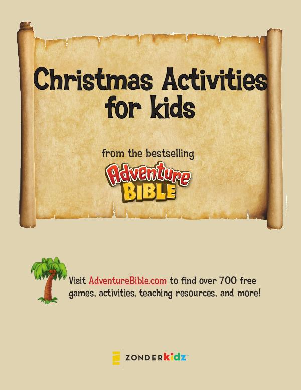NIV Adventure Bible Christmas Activities