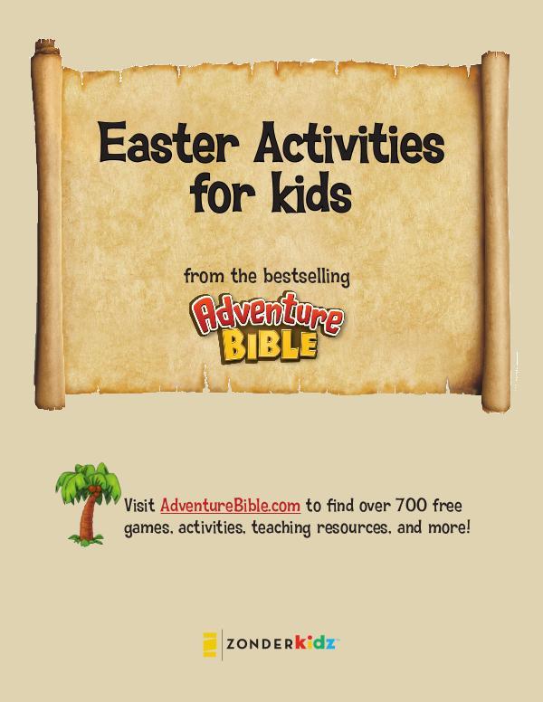 NIV Adventure Bible Easter Activities