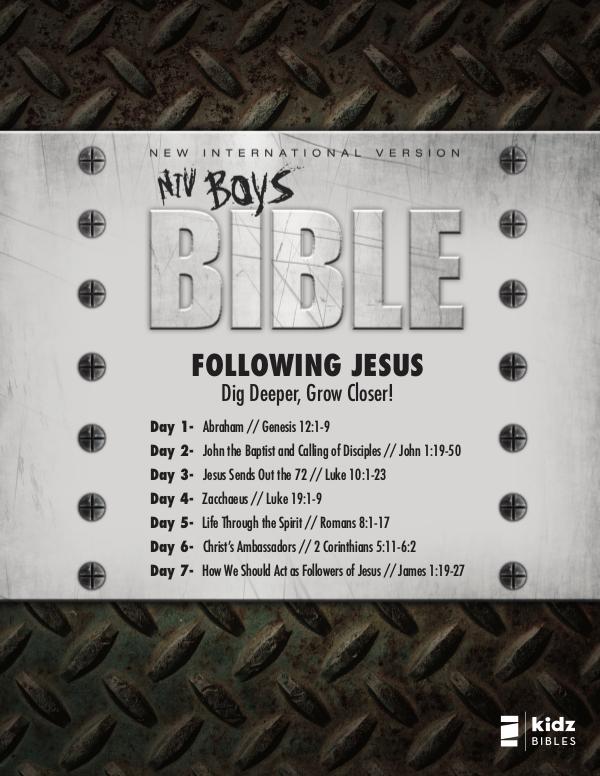 NIV Boys Bible NIV Boys Bible | Reading Plan