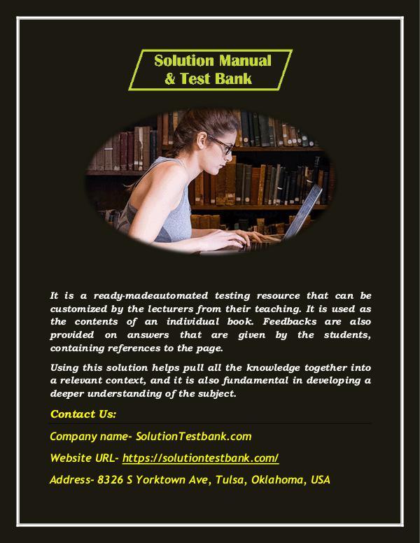 Buy Solution Instructor Manual & Test Banks Solutions Online Buy Solution Instructor Manual & Test Banks