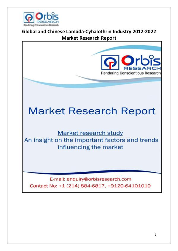 Market Research Reports Globally & Chinese Lambda-Cyhalothrin Industry