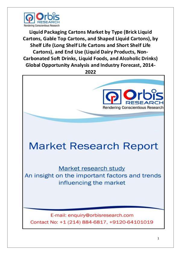 Liquid Packaging Cartons Market Worldwide