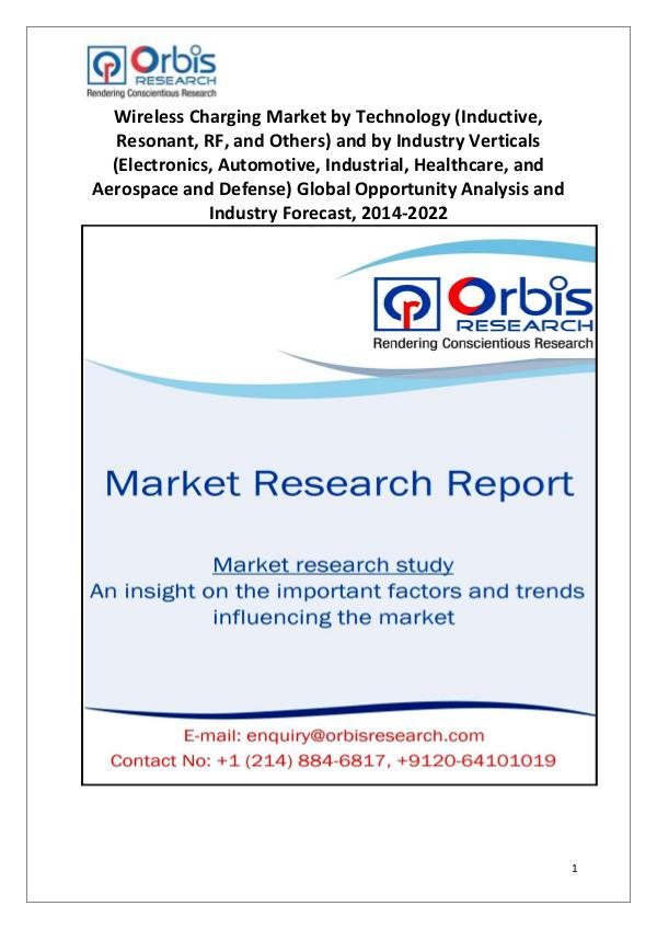 Market Research Reports New Study: 2022 Global Wireless Charging Market