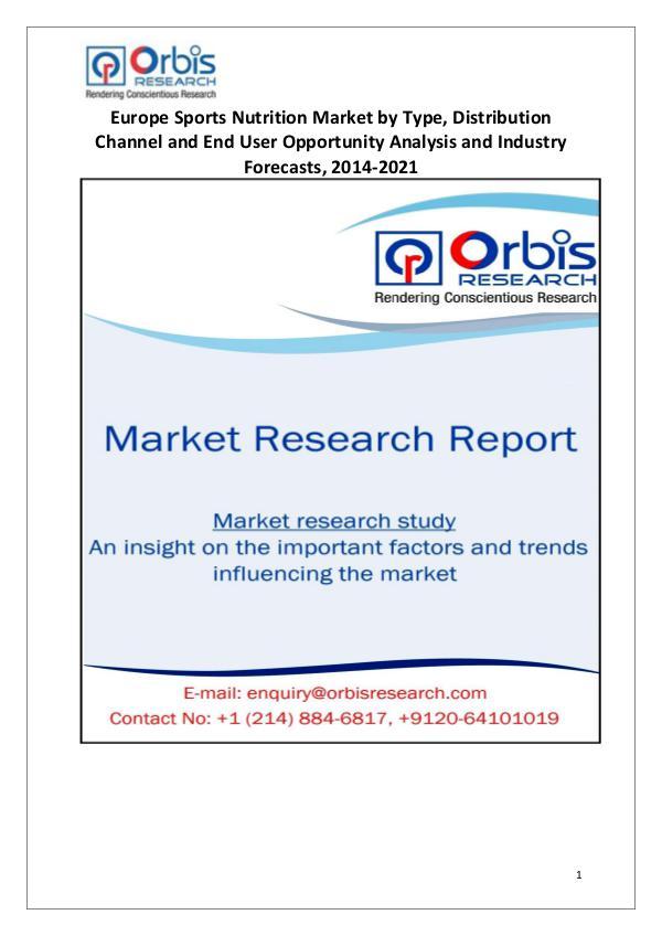 2014-2022 Europe Sports Nutrition Market