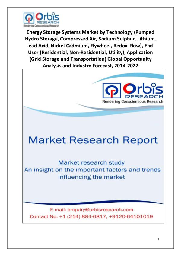 2014 Energy Storage Systems Market Globally