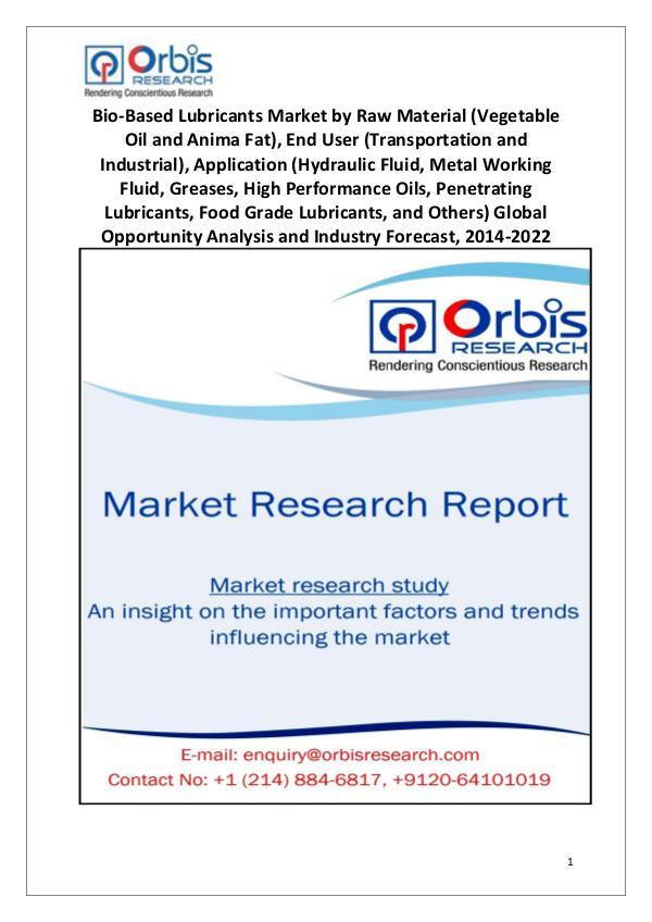 2014-2022 Global Bio-Based Lubricants Market