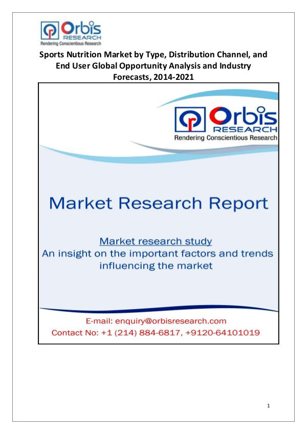 Market Report Study Latest News: Global Sports Nutrition Industry