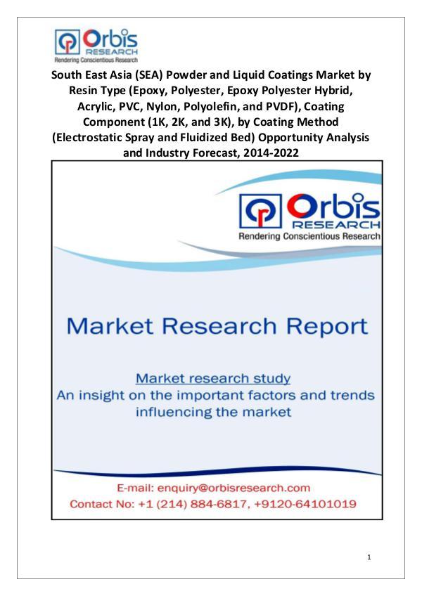 Market Report Study South East Asia (SEA) Powder and Liquid Coatings