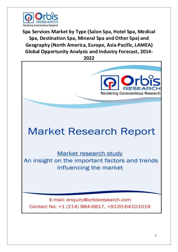 New Study: 2022 Global Spa Services Market
